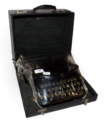Lot 47 - ~ A Klein Adler typewriter in case