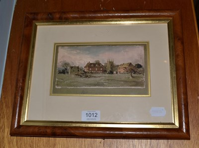 Lot 1012 - John Louis Petit (1801-1868) Norbury, Derbyshire, scene with country house and church, watercolour