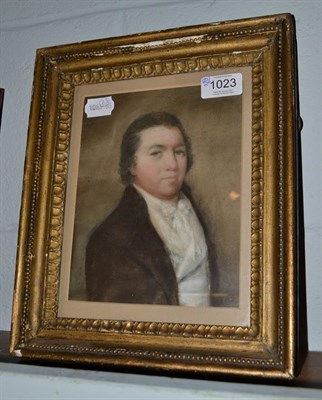 Lot 1023 - Follower of Joseph Highmore (19th century) Portrait of a gentleman, head and shoulder, wearing...