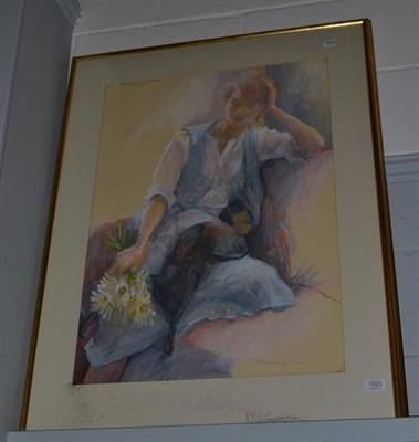 Lot 1031 - Josephine Graham (Contemporary) Scottish, ''Josephine Resting'', signed and dated (19)78,...