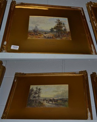 Lot 1033 - William Manners RBA (1860-1930), ''On the hills near Kendal'' & ''Seeking fresh pastures'',...