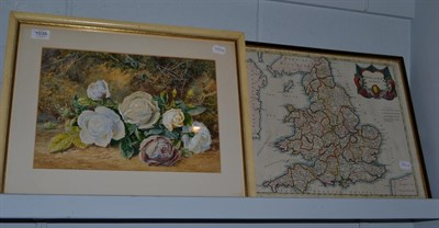 Lot 1035 - Thomas Collier RI (1840-1891), Still life of roses on a mossy bank, signed and dated 1871,...
