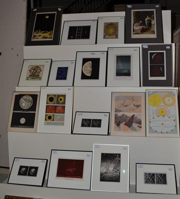 Lot 1052 - A group of prints relating to the solar system, with Italian and French examples (18)
