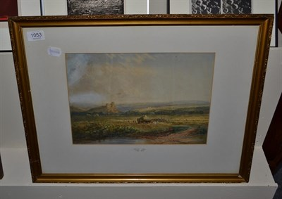 Lot 1053 - Attributed to David Cox RWS (1783-1859), Haymaking in an extensive landscape, bears signature,...