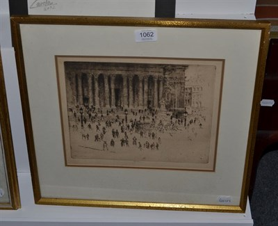Lot 1062 - Joseph Pennell (American 1857-1926) St Pauls Pavement, etching, signed in Pencil  Provenance:...