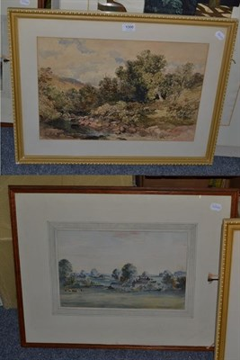 Lot 1066 - Edmund Morison Wimperis (1835-1900) River landscape, initialled and dated (18)81, pencil and...