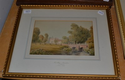 Lot 1071 - Attributed to John Varley (1778-1842), ''Ford Abbey, Devonshire'', bears signature,...