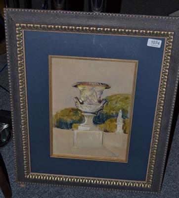 Lot 1074 - Alexander Jamieson (1873-1937) Scottish, Garden Urn, Versailles, signed and dated 1912,...