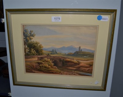 Lot 1078 - Attributed to Lady Buchan-Hepburn (19th Century) A view in Italy, watercolour, 22cm by 30cm
