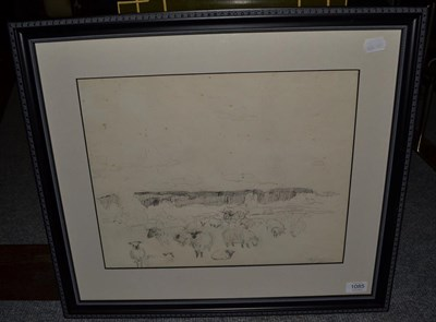 Lot 1085 - Alexander Jamieson (1873-1937) Scottish, sketch of sheep, signed, pencil, 33cm by 42cm