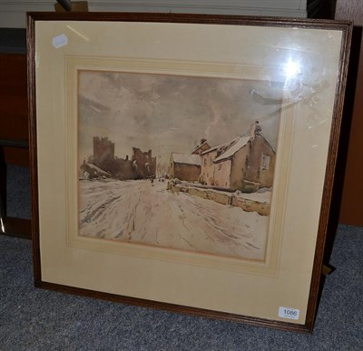 Lot 1086 - Fred Lawson (1888-1968) Bolton Castle, signed and dated 1940, watercolour, 32cm by 37cm