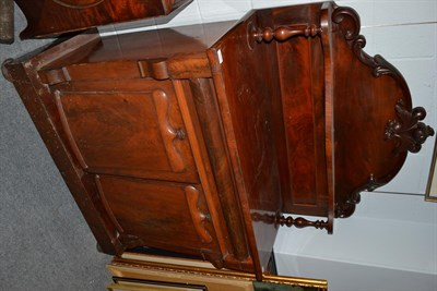 Lot 1090 - A William IV mahogany chiffonier with scrolling leaf carved super structure, 107cm by 47cm by 165cm
