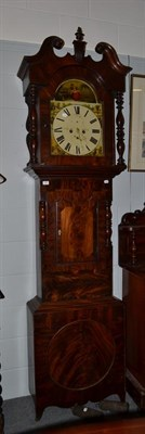 Lot 1091 - A mahogany 8-day white dial longcase clock, painted dial signed Illingworth Holbeck, circa 1830