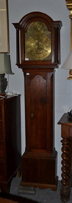 Lot 1094 - An oak 8-day longcase clock, arch brass dial Thos Radford, Leeds, strike/silent selection in...