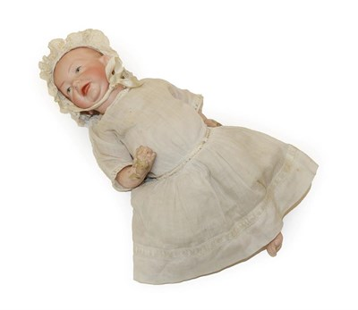 Lot 2002 - Kammer & Reinhardt '28' '100' Bisque Character Baby Doll, painted and moulded hair and eyes,...