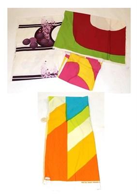 Lot 2016 - Circa 1960s Lengths of Fabrics, comprising a Maija Isola, Finland remnant titled 'Meduusa',...