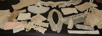 Lot 2035 - Assorted Late 19th/Early 20th Century Lace, including tape lace, embroidered and cotton...