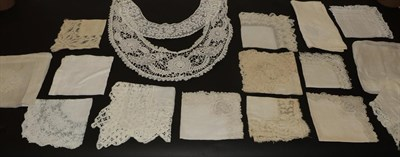 Lot 2040 - Fifteen Assorted 19th Century and Early 20th Century Handkerchiefs, in cotton and silk with...