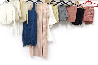 Lot 2046 - Assorted Late 19th/Early 20th Century Ladies' Undergarments and Shirts, comprising three...