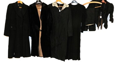 Lot 2048 - Late 19th/Early 20th Century Ladies' Clothing, comprising a black silk bodice with buttons to...