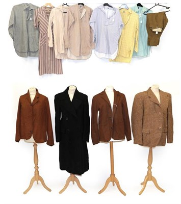 Lot 2076 - Circa 1940s Costume Bearing the CC41 Label, comprising a brown wool jacket with three button...
