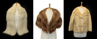 Lot 2080 - Maxwell Cowan York, Palomino Mink Short Double Breasted Evening Jacket, with three quarter...