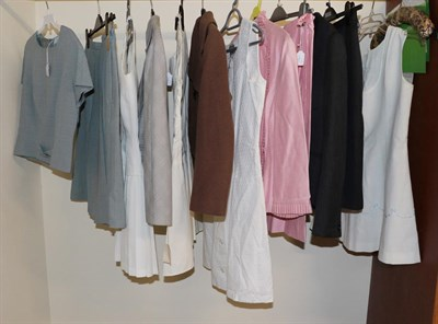 Lot 2082 - Assorted Circa 1930-50s Suits and Tennis Dresses, comprising a Christian Dior grey skirt suit, with