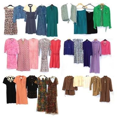 Lot 2088 - Circa 1950-70s Ladies' Costume, including Mairi McIntyre Harrogate brown wool two-piece suit...
