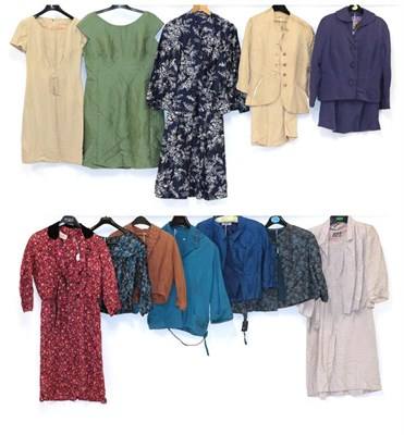 Lot 2095 - Circa 1950-60s Ladies' Suits and Jackets, comprising Hollywood Model short-sleeved shift dress with