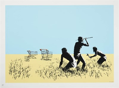 Lot 1025 - Banksy (b.1973) ''Trolleys'' Signed and numbered 510/750, with the publisher's blindstamp, Pictures