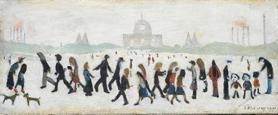 Lot 1070 - Laurence Stephen Lowry RBA, RA (1887-1976) ''People in a Park'' Signed and dated 1971,...