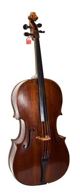 Lot 3002 - Cello 29 1/2'' two piece back, upper bout 13 1/2'', middle 9 1/2. lower 17'', depth 4 3/4''; no...