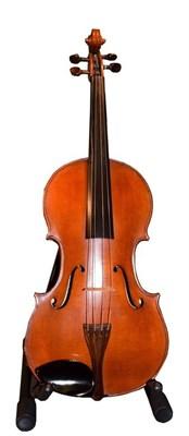 Lot 3005 - Viola 16 1/4'' two piece back by John Mather, labelled 'John Mather Harrogate 1989 No.14' case,...