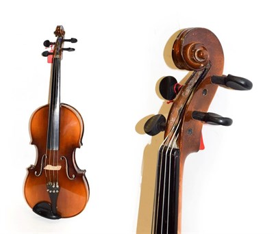 Lot 3006 - Viola 16'' two piece back, labelled ''Eugen Gartner, Stuttgart''