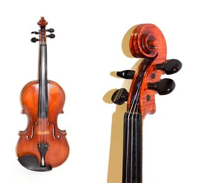 Lot 3008 - Violin 13 15/16'' two piece back, labelled 'Giuseppi Bossi Stradella'