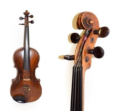Lot 3010 - Violin 14 1/4'' two piece back, no label