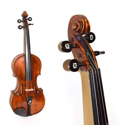 Lot 3012 - Violin 14 1/8'' one piece back labelled ''Alex Smillie,  fecit Crosshill, Glasgow 1900 No.132''