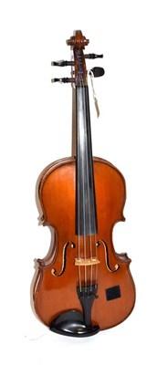 Lot 3017 - Violin 14 1/8'' two piece back, labelled 'Nicolas Bertholini Luthier de S.M.L'Emperor et de la...