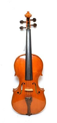 Lot 3019 - Violin 14'' two piece back by John Mather, labelled 'John Mather Harrogate 2001 no.42' cased