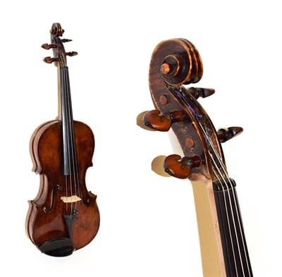 Lot 3021 - Violin 14'' two piece back, labelled 'Lorenzo Storioni Cremona 1781'