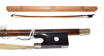 Lot 3023 - Violin Bow stamped 'A. Voirin Fils', length excluding button 721mm