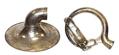 Lot 3024A - Sousaphone no.84822 in Eb, with detachable bell with decorative engraving and makers name 'York...