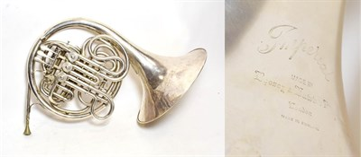 Lot 3025A - French Horn four valve double, engraved 'Imperial Made By Boosey & Hawkes Ltd, London, Made In...