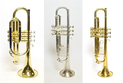 Lot 3026A - Long Model Cornet By Yamaha YCR2310 no.206487, in manufacturers hard case with mouthpiece;...