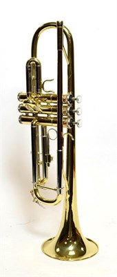 Lot 3027 - Cornet Rosedale By Gear4Music cased with two mouthpieces, together with Trumpet John Packer...