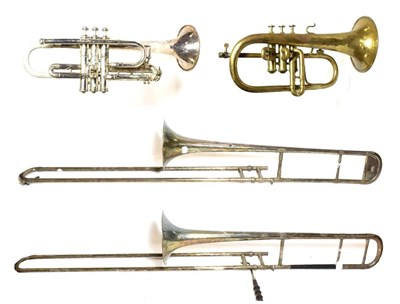 Lot 3029A - Trombone By Boosey & Hawkes Ltd bell stamped 'L.P. Artist's Perfected' and 'N.H. D.G.A. No627';...