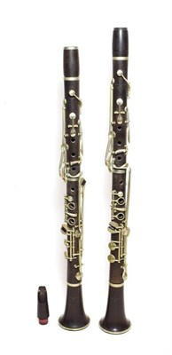 Lot 3029B - Pair Of Clarinets both stamped on all sections 'Jacques Albert Fils' both upper and lower...