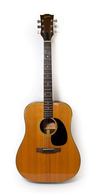Lot 3039 - Gibson Blue Ridge Custom Acoustic Guitar 1973-75 serial no.A050046 on rear of headstock and...