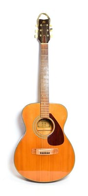 Lot 3040 - Yamaha FG110 Acoustic Guitar Made in Taiwan no.30808409 stamped on top bracing visible through...