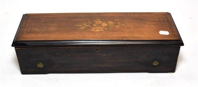 Lot 3056 - A Good Musical Box Playing Eight Airs, By Métert & Langdorf, serial No. **885, circa 1860, playing